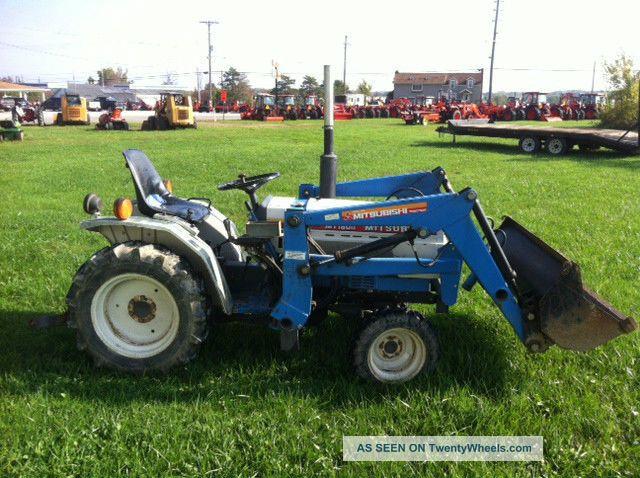 Mitsubishi Tractor 180 : Mitsubishi mt w front loader mfwd wd