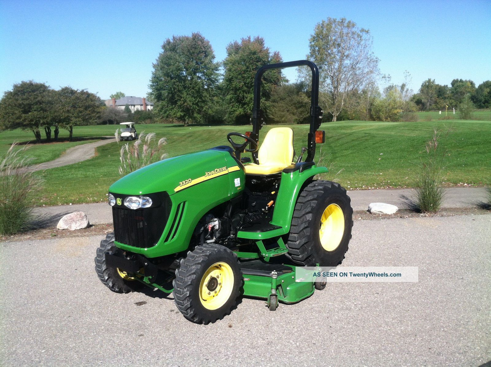 Small Tractors With Pto : John deere compact utility tractor deck pt