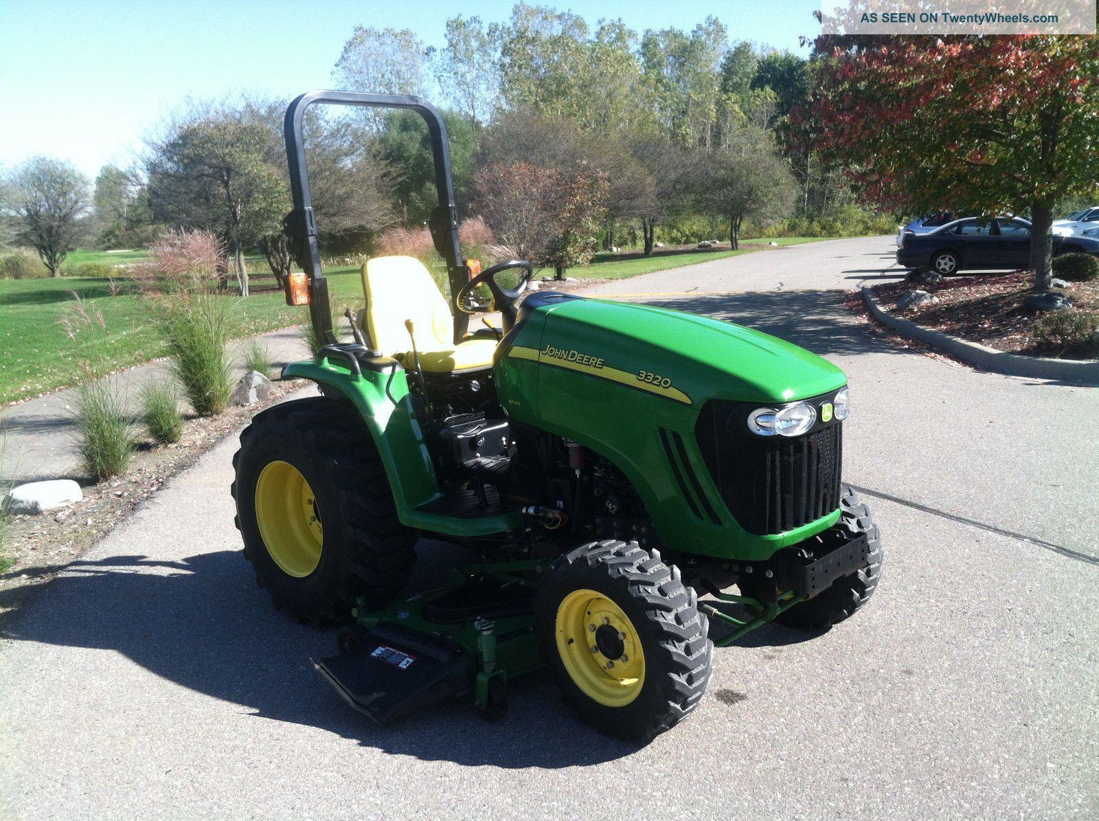 Mitsubishi Tractor Mower Deck : John deere compact utility tractor deck pt