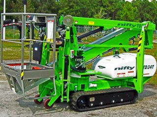 Nifty Td34t 40 ' Track Boom Lift,  40 ' Work Height,  4000 Lbs,  2013 In Stock photo