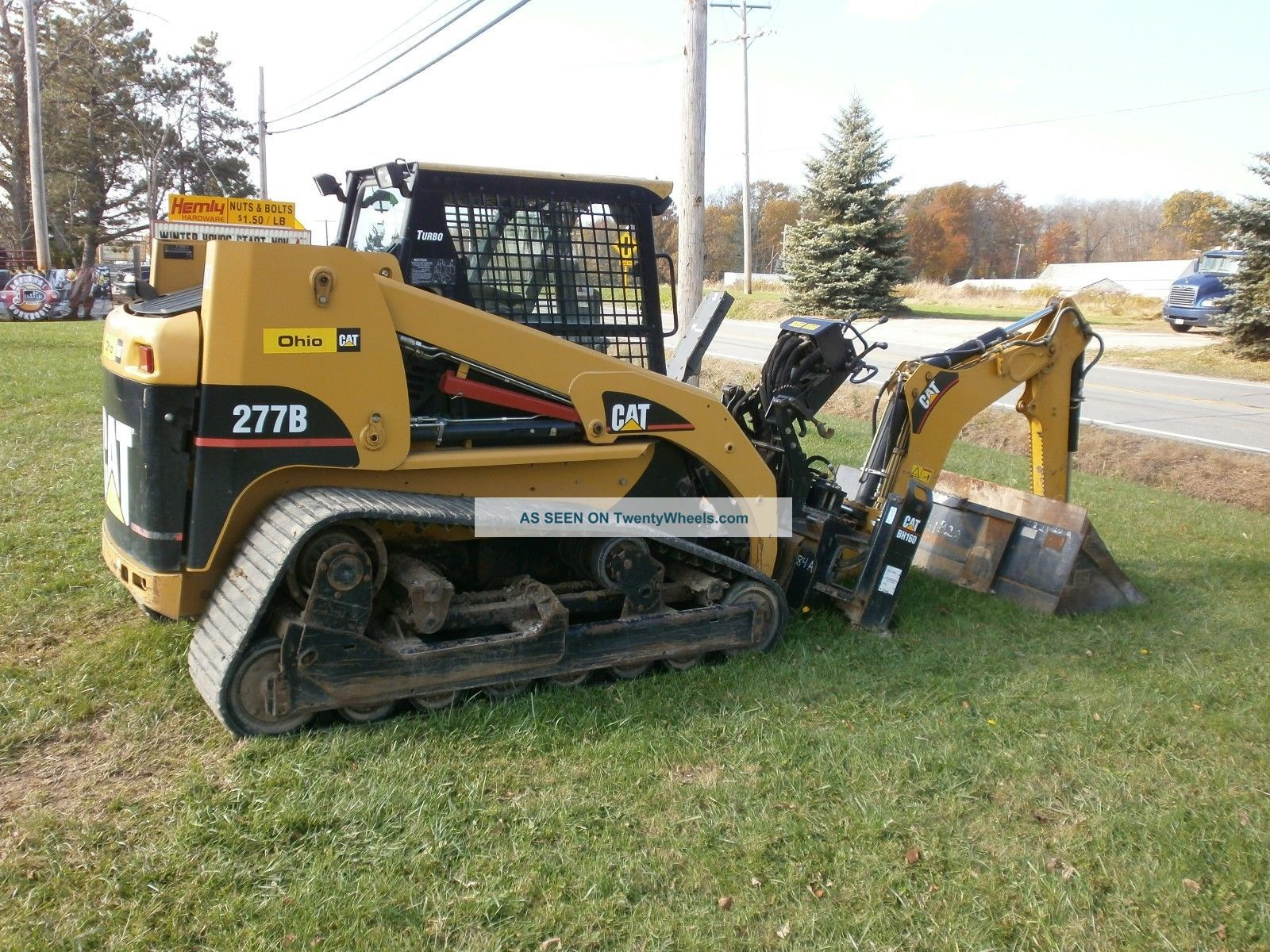 2006 Caterpillar 277b Cat Track Skid Steer Loader Backhoe