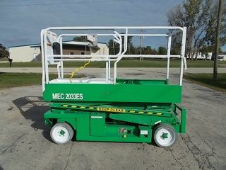98 Mec 2033es 20ft Platform Electric Scissor,  Deck Ext - Job Ready photo