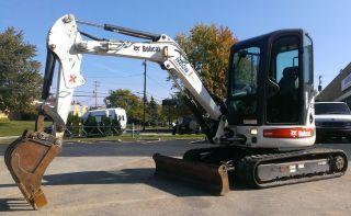 Bobcat 430 Mini Excavator Zhs Fast Track Kubota Diesel Bucket 425 435 E35 E42 Nr photo