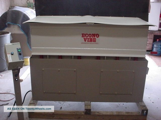 2011 Econo Vibe Tub Polisher With 3 Sizes Of Micro Brite Included Finishing Machines photo