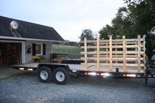 24 ' 7 Ton Tilt Bed Equipment Trailer Flatbed Car Trailer Does Not Need Ramps photo
