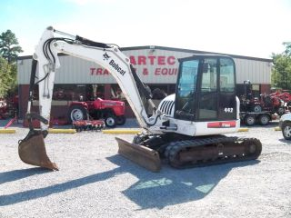 2007 Bobcat 442 Excavator - Loader - Backhoe - Enclosed Cab - photo