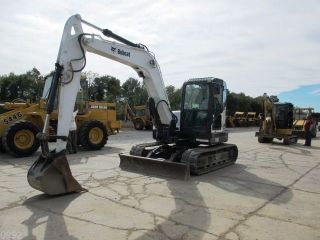 2009 Bobcat E80 Hydraulic Excavator,  Full Cab,  Air,  Heat,  18700 Pound Machine photo