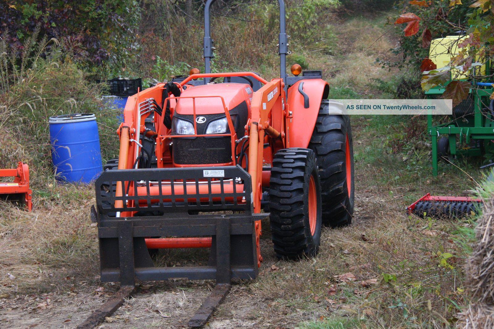 2012 Kubota M5640 Sud 4wd Tractor W Bucket, Pallet Forks