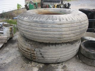 2 Uniroyal Floatation Tires 600 X 24 Removed From Barber Greene Paver photo