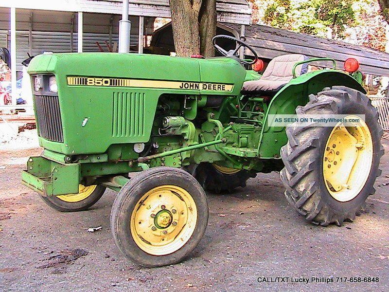 John Deere 850 Diesel Tractor : John deere tractor hp yanmar diesel wd