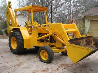 John Deere 410 Backhoe Engine I Can Deliver For A Fee. photo