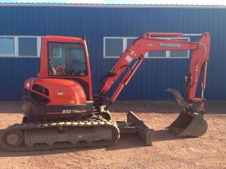 2013 Kubota U45 Excavator Cab Heat Ac Angle Blade Only 95 Hours photo