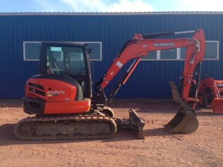 2012 Kubota Kx057 Excavator Cab Heat Ac Angle Blade Only 180 Hours photo