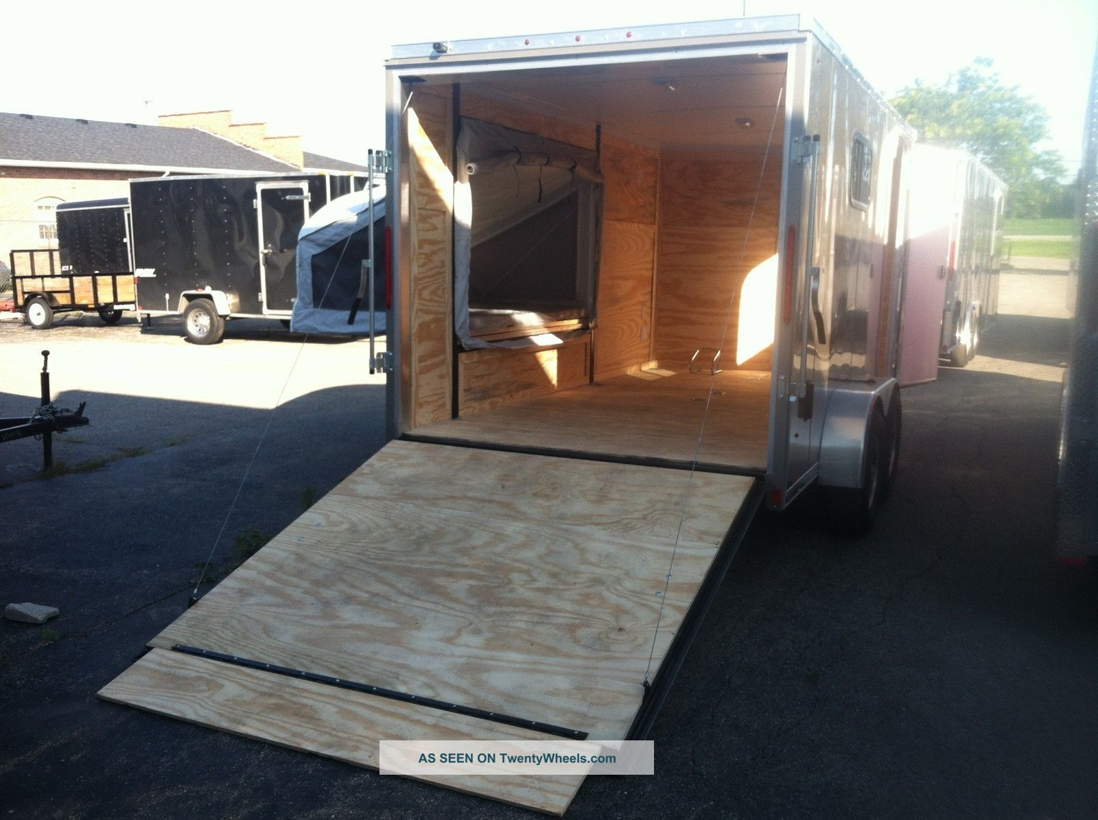 Trailer Bed Enclosed Trailer Fold Down Beds Car Interior
