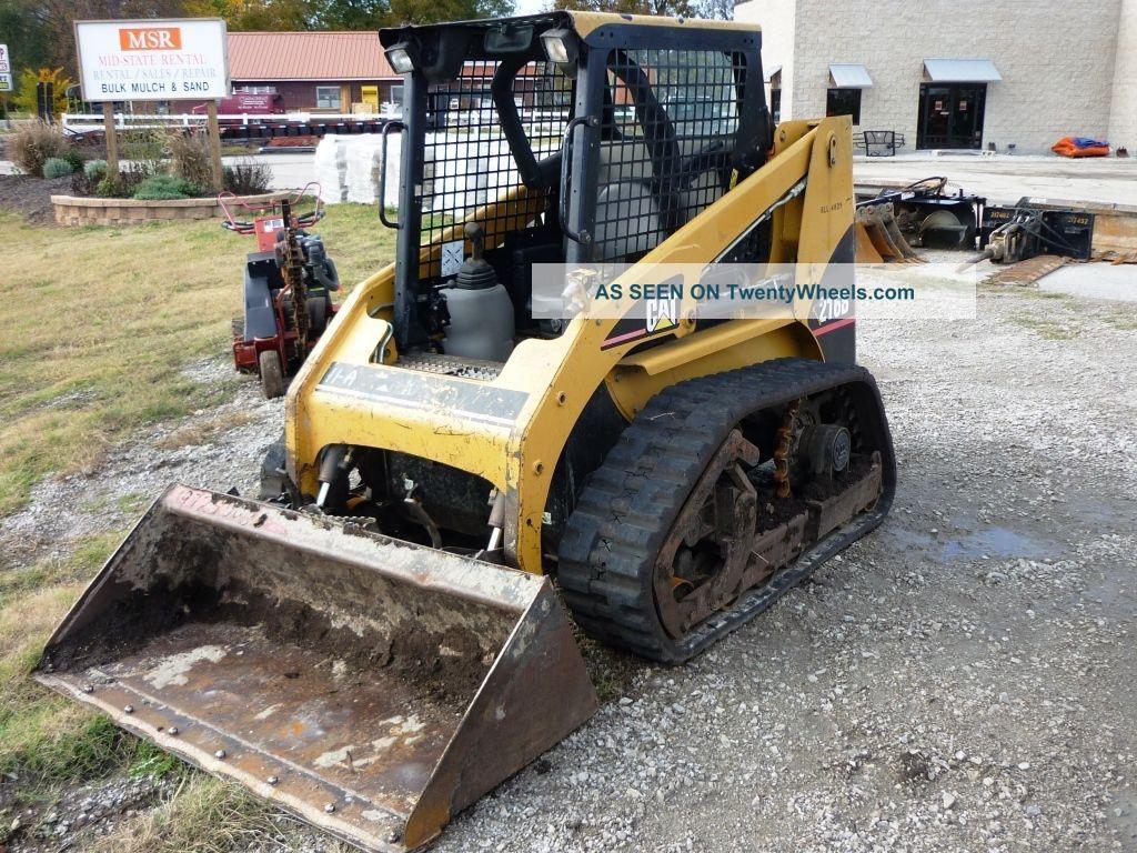 Skid Steer Tracks : Cat track loader b caterpillar skid steer w tracks