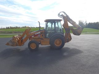 2004 Case 580 Sm Series 2 Backhoe Extenda Hoe 4x4 A/c And Heat Cab photo
