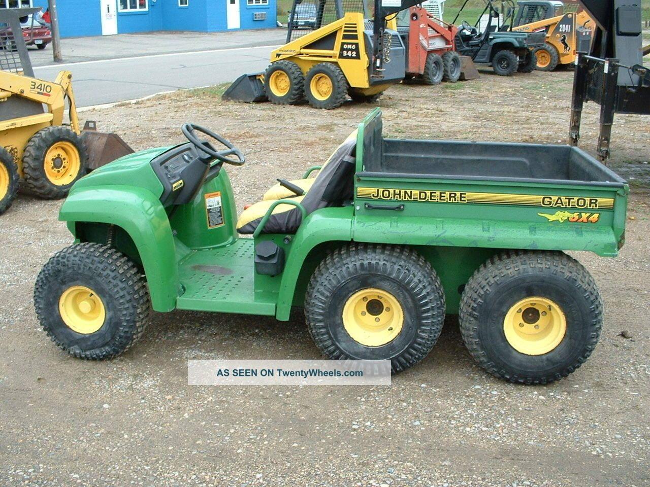 2001 John Deere Gator 6x4 Electric Dump Gas Utility Vehicle