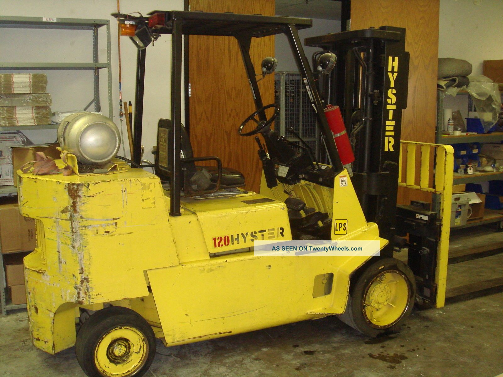 Fork Lift Foot : Hyster xls fork lift with foot forks