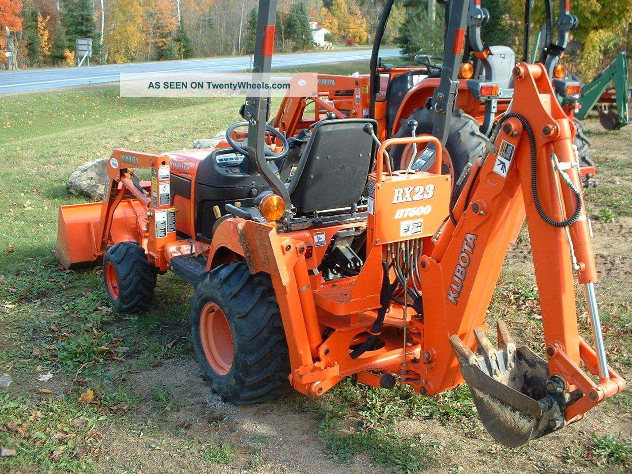 Tractor Loader Backhoe : Kubota bx tlb tractor loader backhoe