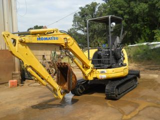 2001 Komatsu Excavator Pc30 Mr - 1,  Rubber Tracks,  Works Well Located In Durham Nc photo