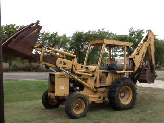 Ford 555 Diesel Backhoe - Runs Good - Will Ship Or Deliver photo