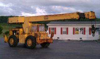 1984 Clark 714 Rough Terrain Crane,  453 Detroit Diesel,  4x4,  14 Ton Capacity photo