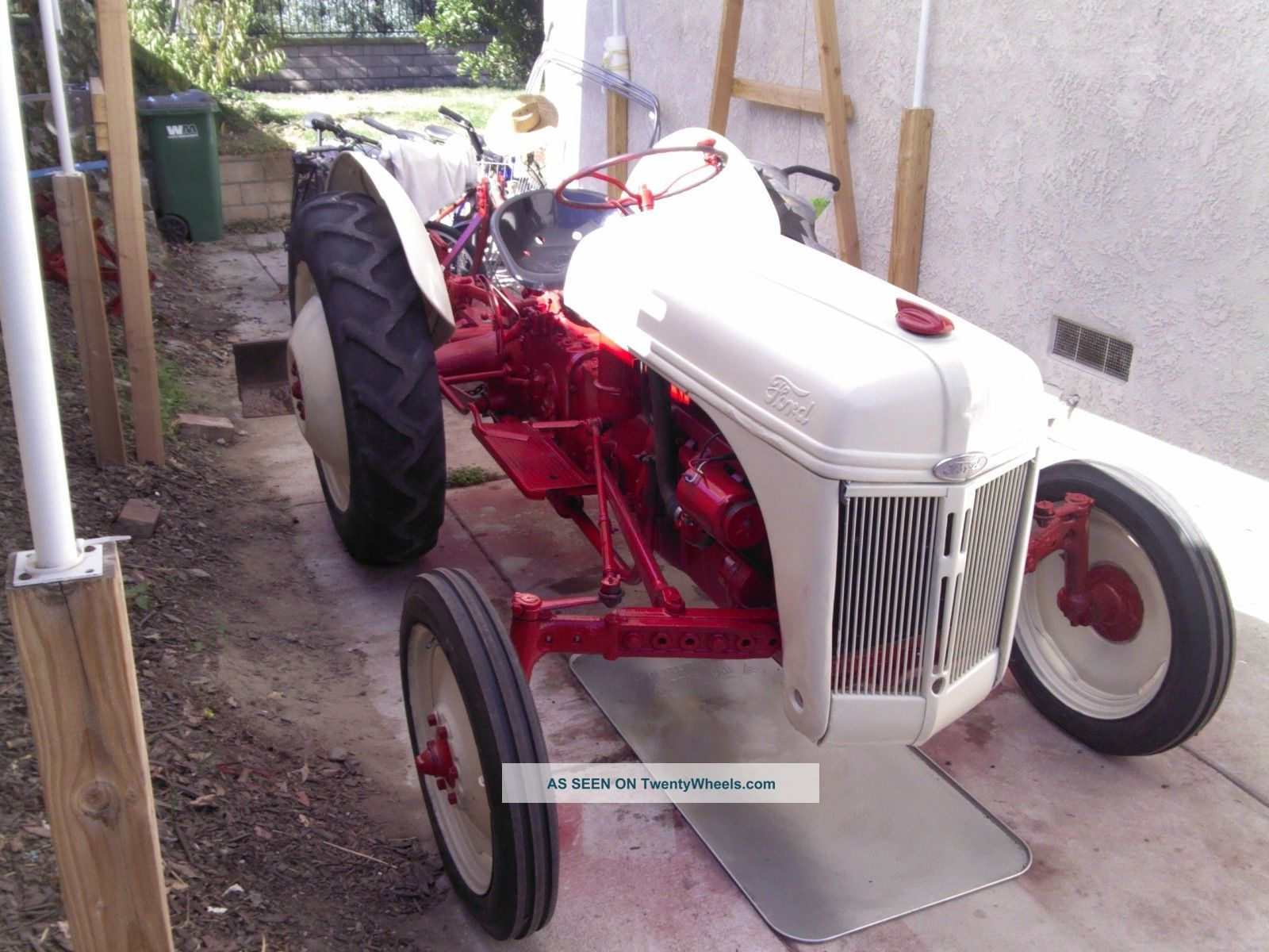 1947 Ford 8n Tractor With Grading/scraper Blade And Cultivator -