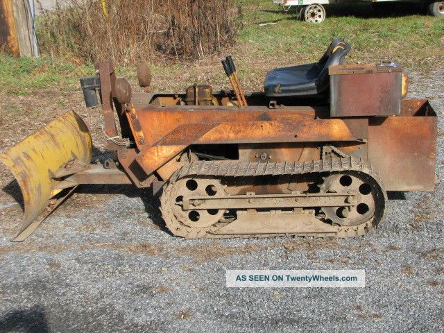 Struck Mini Dozer Antique Tractor  Runs And Works Good Mini Bulldozer