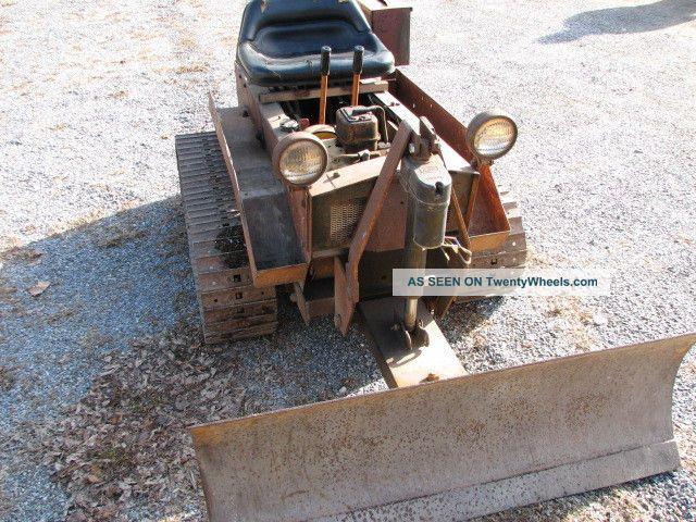 Mini Antique Tractors : Struck mini dozer antique tractor runs and works good