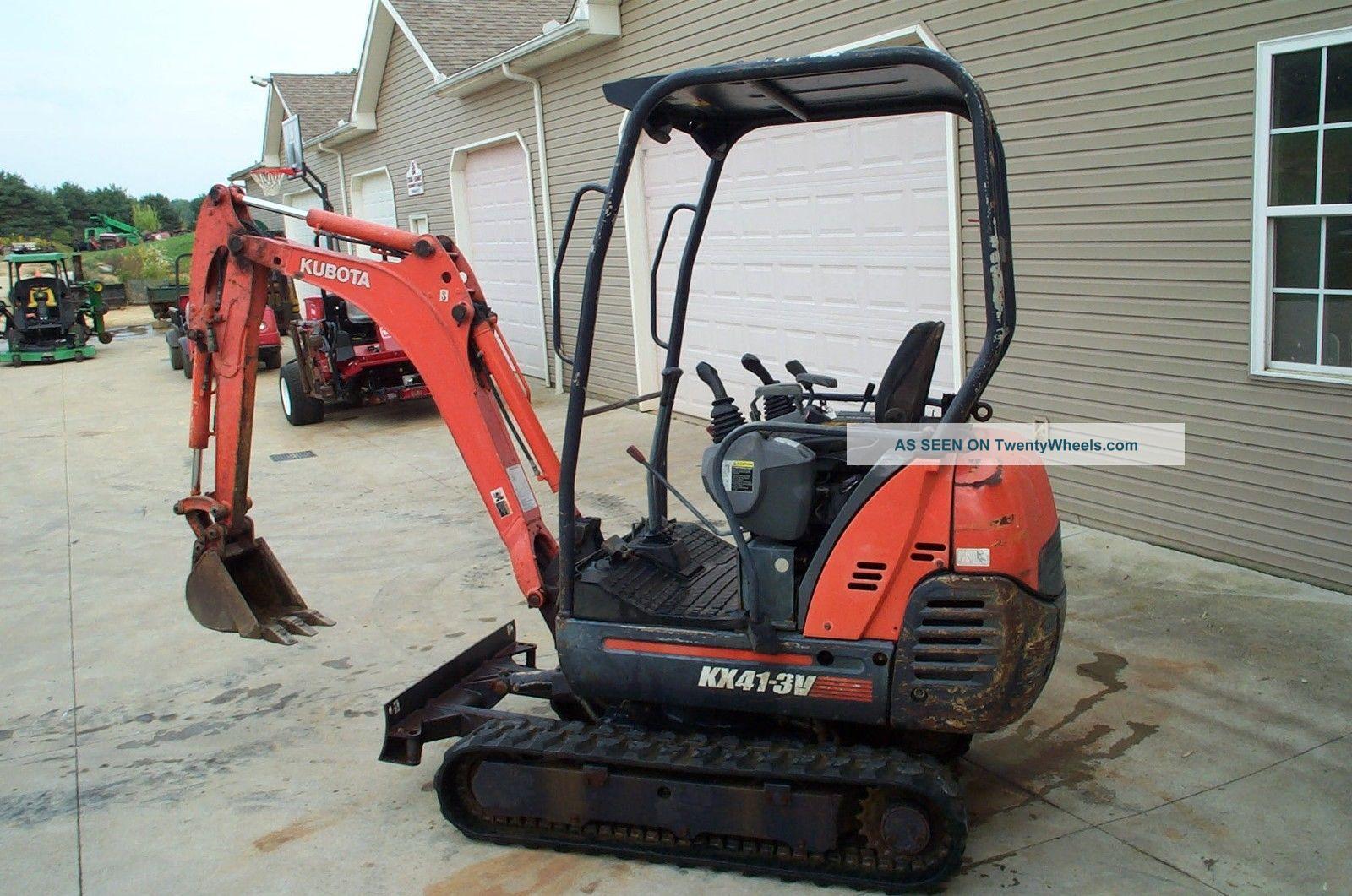2005 kubota kx41 3v mini excavator adjustable tracks diesel. Black Bedroom Furniture Sets. Home Design Ideas