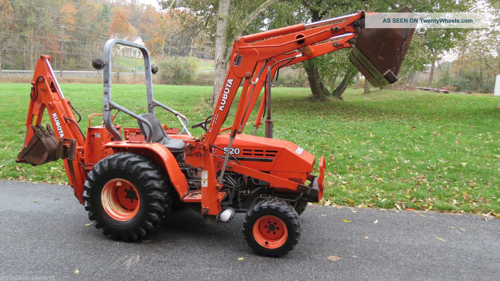 1996 Kubota B20 Hydrostatic 3pt Hitch Pto 4x4 Compact Tractor Loader Backhoe H Tractors photo