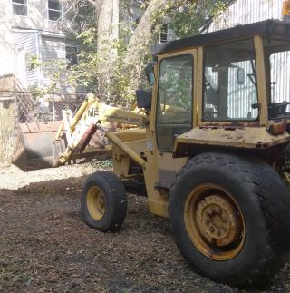 1988 Massey Ferguson 30e Diesel Tractor With Loader & Cab photo