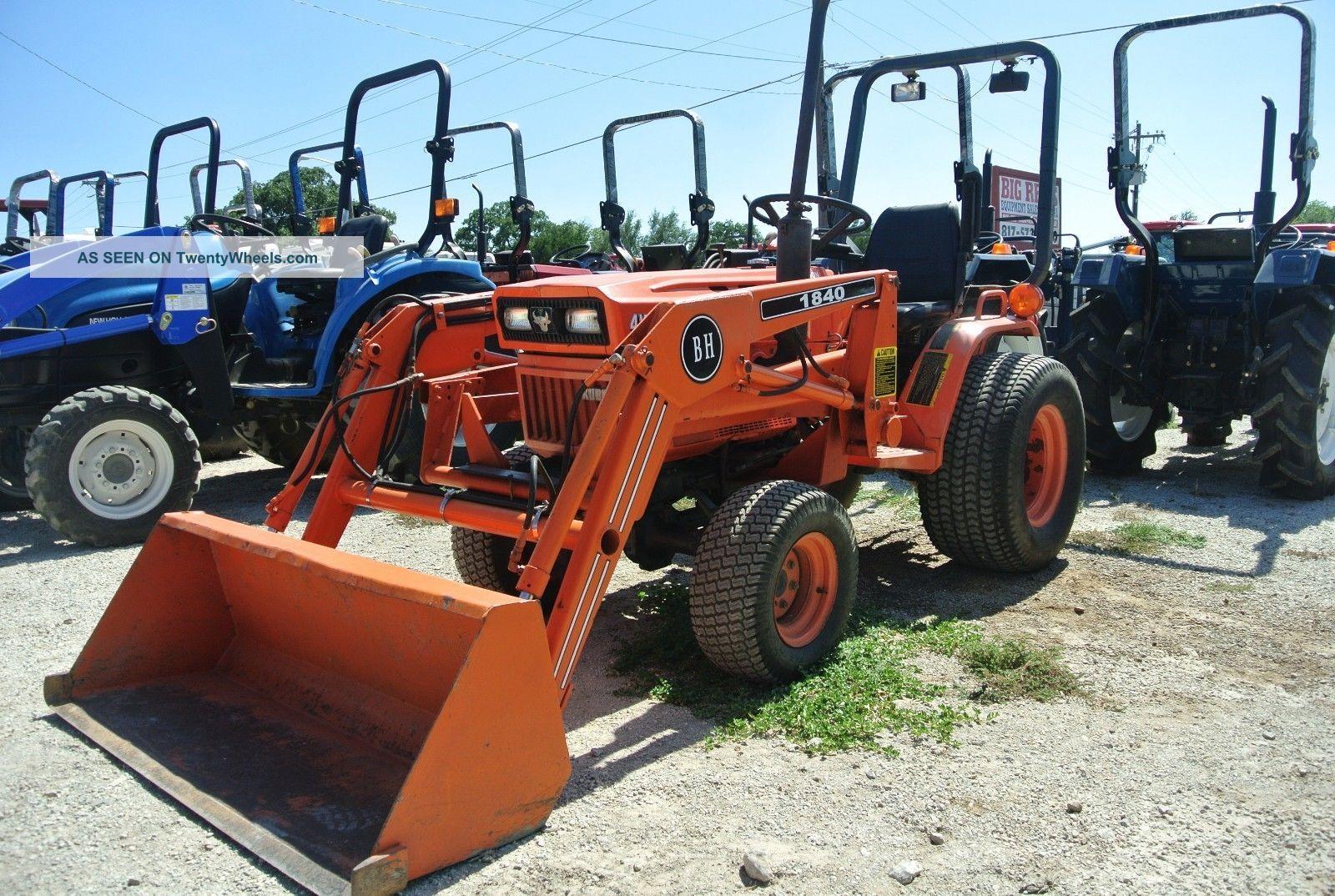 17hp 4wd Kubota B7200 Tractor W/ Loader Bucket Turf Tires Farm Equipment  Diesel