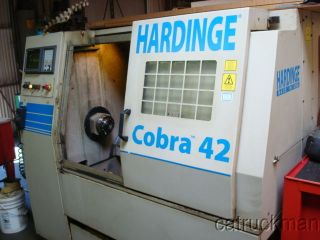 1997 Hardinge Cobra 42 W/ Fanuc 21 - T Control,  16c Collet Nose & Tailstock photo