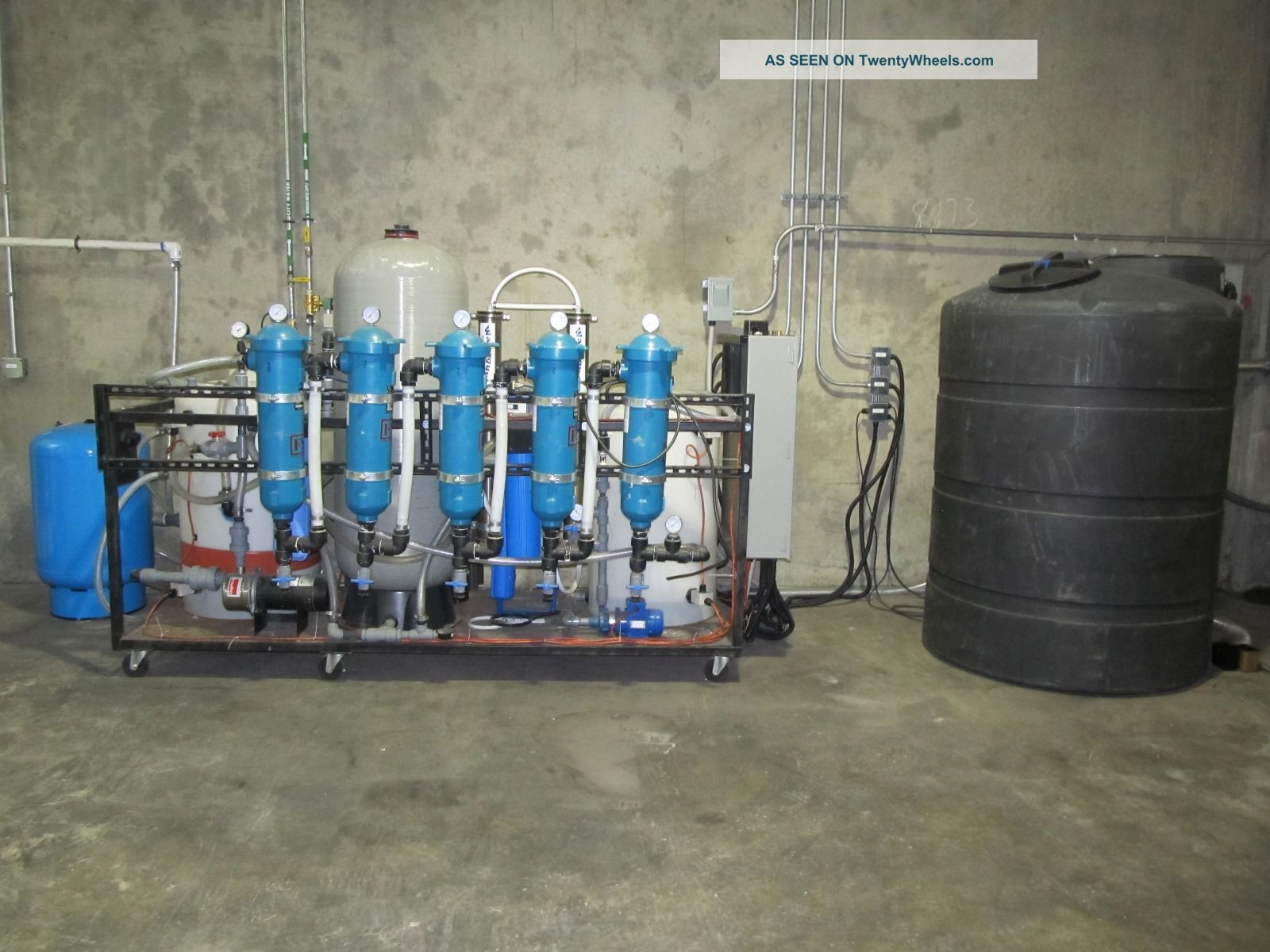 Industrial Filtration Units : Industrial water filtration system reverse osmosis de