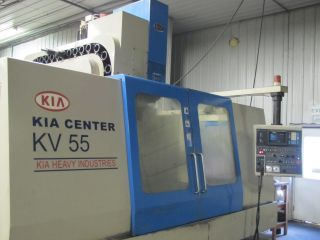 Machining Center Fanuc Cnc Mill 1997 Kia Center Kv55 Cat 50 Spindle photo