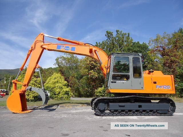 Fiat Hitachi Ex Fh 120 Excavator Trackhoe With Thumb Excavators photo