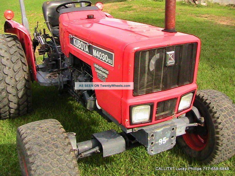 Low Profile Tractor : Kubota m su low profile tractor wd hp rebuilt