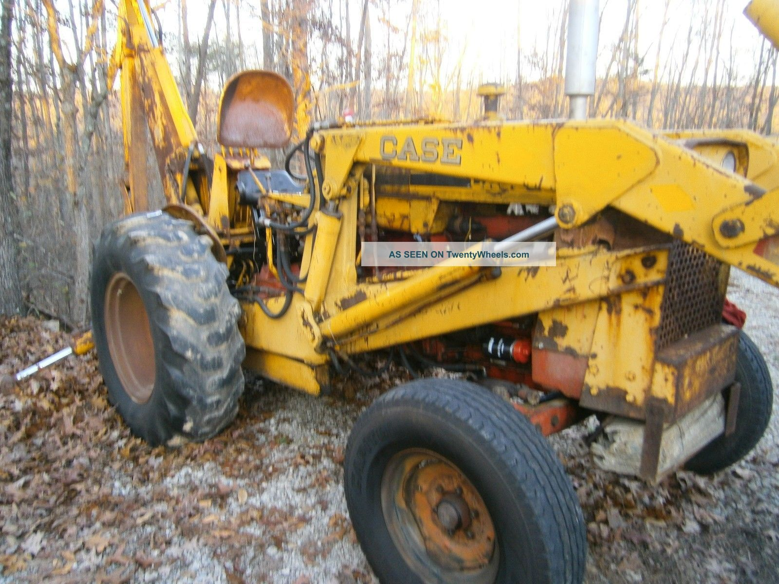 Case Industrial Tractors : Case backhoe with buckets quot and tractor