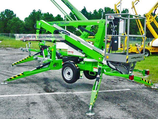 Battery Bucket Lift : Nifty tm t telescopic boom lift  working height