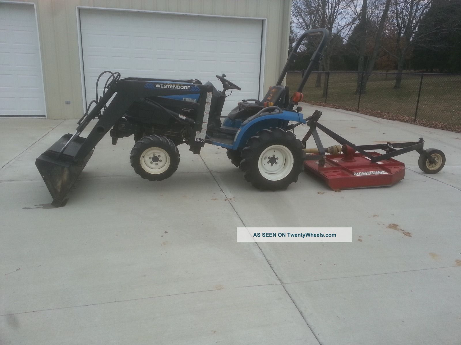 Ford Holland Tractor Tc18 4x4 Front End Loader And Bush Hog