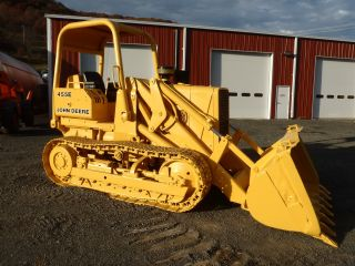 1987 John Deere 455e Crawler Loader Dozer Good U/crriage photo