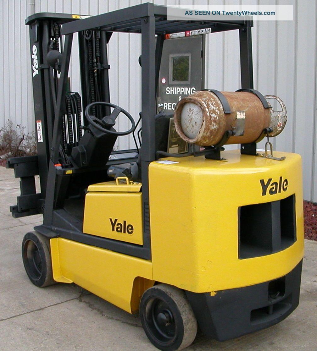 Yale Model Glc050de (1996) 5000lbs Capacity Lpg Cushion