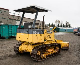 Komatsu D21a - 7 Bulldozer 6way Pat 2000 Dozer Crawler Tractor Tacoma 860 Hrs photo