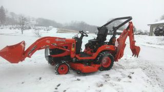 2013 Kubota Bx 25 Dlb Mower Backhoe Loader Only 50 Hours photo
