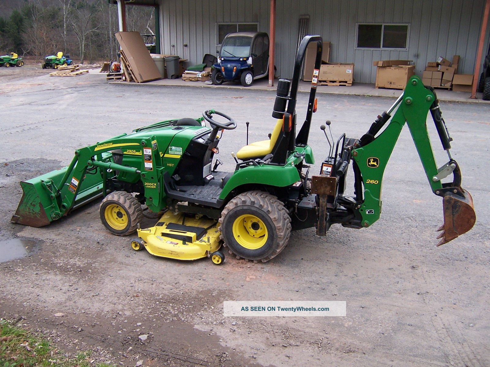 John Deere Tractor Loader Backhoe Mower Lgw