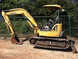 2007 Komatsu Pc50 Mr - 2 Excavator Rubber Track Pads,  2539 Hours,  24