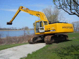 2005 Hyundai 290lc - 7 Excavator 60 Ft Long Reach,  4000 Hrs,  Works Perfect,  Look photo