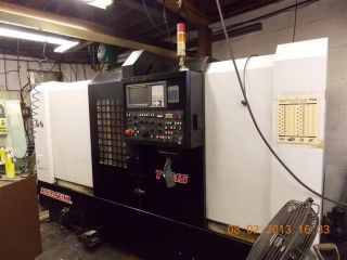 2005 Amera Seiki T - 415 Cnc Lathe Turning Center Fanuc Tailstock Box Way Conveyor photo