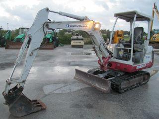 Takeuchi Tb125 Mini - Excavator W/ Blade 2 - Speed Yanmar Diesel Rubber Tracks photo